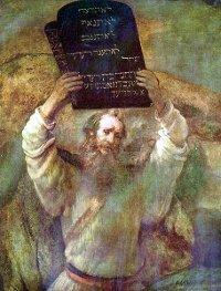 Moisés con los Diez Mandamientos por Rembrandt (1659)