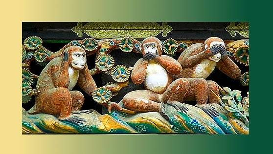 Los tres monos sabios — Leyenda del Japón