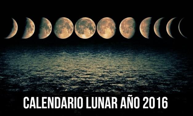 Lunaciones — Calendario Lunar Julio 2016