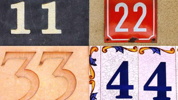 Números maestros – 11, 22, 33 y 44