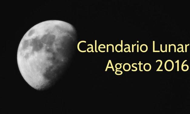 Calendario Lunar Agosto 2016 — Lunaciones