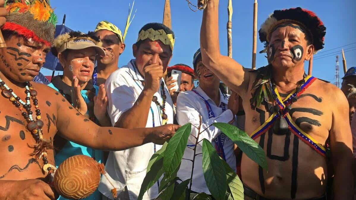 ¡Gran Marcha de los Chamanes! Contra Nicolás Maduro